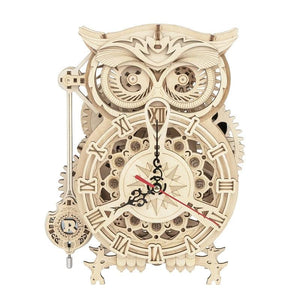 161pcs Creative DIY 3D Owl Clock Wooden Puzzle Game Assembly Toy Gift for Children Teens Adult LK503-toys-betahavit-China-betahavit