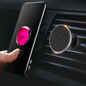 Magnetic Car Holder For iPhone X 8 7 6 Plus Xiaomi Samsung Phone Stand Holder 360 Degree Soporte Movil For 4-6 inch-electronic-betahavit-Air Vent Rose Gold-betahavit