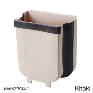 S / L Foldable Trash Bin Kitchen Cabinet Door Storage Hanging Trash Bin Wall Mounted Trash Bin For Waste Storage In Toilets-home-betahavit-B-betahavit