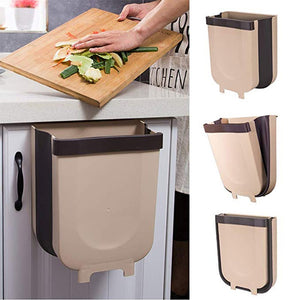 S / L Foldable Trash Bin Kitchen Cabinet Door Storage Hanging Trash Bin Wall Mounted Trash Bin For Waste Storage In Toilets-home-betahavit-betahavit