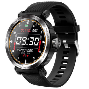 IP68 waterproof Men Sports Clock Heart Rate Monitor Smartwatch for IOS Android phone-outdoor-betahavit-black-betahavit