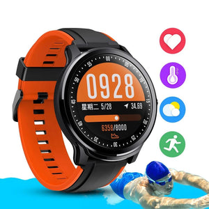 IP68 Waterproof full touch smartwatch screen heart rate blood pressure fitness track sports music camera-outdoor-betahavit-betahavit