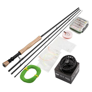 MAXWAY Fly Rod Combo Classic 7ft 9ft 2.1M 2.7M Fast Action Fishing Rod Fly Reel Fly Baits Lure Box Fishing Tackle Set-outdoor-betahavit-betahavit