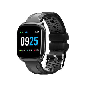 Bluetooth Touch Color Screen sensory clock Dynamic Heart Rate Blood Pressure Pedometer Sport Smartwatch-outdoor-betahavit-Black-betahavit