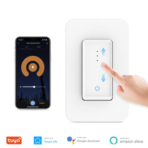 Smart Wifi Dimmer Light Switch, Neutral Wire Required Wall Dimmer Switch US 100-240V, Compatible with Alexa Google Home Tuya App-home-betahavit-Smart Dimmer Switch-betahavit