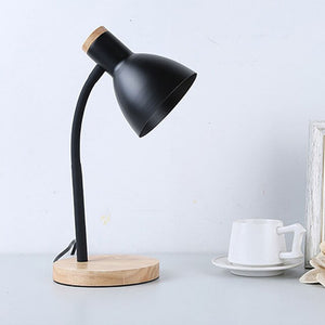 Table Lamp LED Desk Lamp Study Lamp Night Light for Bedroom Bedside Lights Wood LED Desk Light Black & White Curved Lamppost E27-home-betahavit-Black No Bulb-betahavit