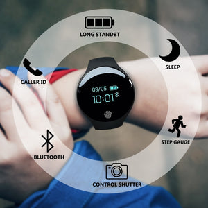 Touch Screen Smartwatch Motion detection Sport Fitness Men Women Wearable Devices For IOS Android-outdoor-betahavit-black-betahavit