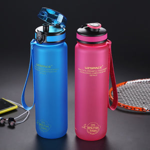 0%BPA Plastic Sports Water Bottle Protein Shaker Portable Tour Outdoor Camp Tea Fruit My Drink Bottle 500/650/1000ml-home-betahavit-1000KEL-pink-betahavit