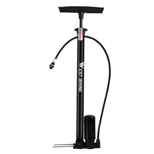 150Psi Bike Pump High Pressure Foot Booster Pump Cycling Tire Inflator Presta Schrader Valve Bicycle Accessories-outdoor-betahavit-Black-betahavit