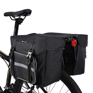 25L Bicycle Bags Cycling Rear Double Side Travel Bag Tail Seat Pannier Bicycle Luggage Carrier Bike Rack Trunk Bag-outdoor-betahavit-betahavit