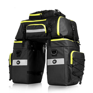 3 in 1 Bike Bags Backpack Saddle Rear Rack Trunk Bag Cycling MTB Shoulder Bags 75L Capacity Waterproof Bicycle Bag-outdoor-betahavit-Black Green-75L ( 3 bags in 1)-betahavit