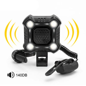 4 Lamp Bike Light with 140dB Horn Alarm Waterproof Cycling Lights USB Charging Flashlight Security Bicycle Light-outdoor-betahavit-betahavit