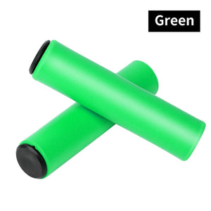 Anti-Skid Bicycle Grips Silicone BMX Road Cycling Handle Bar Covers Plugs Smooth Bike Handlebar End Grips 1 Pair-outdoor-betahavit-Green-betahavit