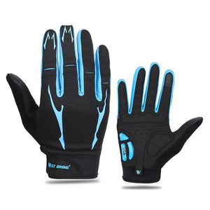 Anti-slip Bicycle Gloves Outdoor Full Finger Gel Pad Sport Gloves Shockproof Breathable Bike Gloves for Men M/L/XL-outdoor-betahavit-betahavit