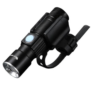 Bicycle Light USB Rechargeable Stretch Zoom 200m Waterproof Cycling Front LED Flashlight Bike Lamp Cycling Light-outdoor-betahavit-betahavit