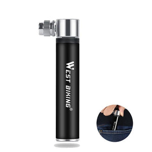 Bicycle Pump 120psi Aluminum Alloy Tire Air Inflator Schrader Presta Valve Cycling MTB Road Bike Portable Hand Pump-outdoor-betahavit-betahavit