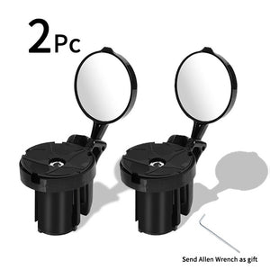 Bicycle Rearview 360 degree Rotate Cycling Handlebar Mirrors For Bicycle Grip Plug MTB Road Bike Rear View Mirror-outdoor-betahavit-2 pcs-betahavit