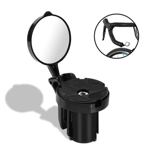Bicycle Rearview 360 degree Rotate Cycling Handlebar Mirrors For Bicycle Grip Plug MTB Road Bike Rear View Mirror-outdoor-betahavit-betahavit