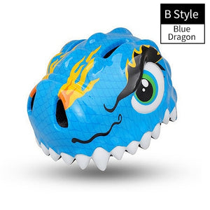 Bike Children Helmets Cartoon 3-8 Years Kids High Density PC Outdoor Sports Safety Skating Cycling Bicycle Helmets-outdoor-betahavit-B Style Blue Dragon-CHINA-betahavit