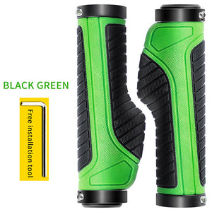 Bike Handlebar Grip 1 Pair Rubber Anti-Skid Ergonomic MTB Cycling Bicycle Grips Bicycles Parts Handlebar Cover-outdoor-betahavit-Black Green-betahavit