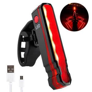Bike Rear Light Laser Line Warning Lamp Waterproof Seatpost LED Light USB Rechargeable MTB Road Bicycle Taillight-outdoor-betahavit-Red light-China-betahavit
