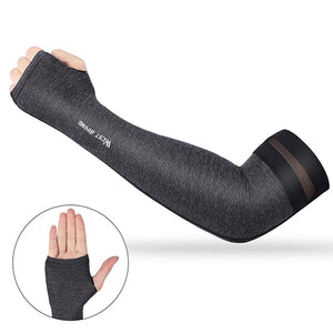 Cycling Arm Sleeves Quick Dry UV 400 Cuff Cover Running Fitness Armguards Breathable MTB Bike Arm Warmers Summer-outdoor-betahavit-Gray-XL-betahavit