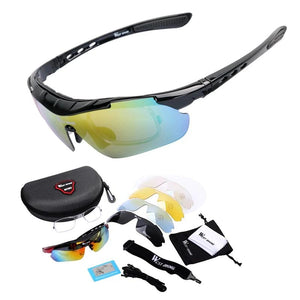 Cycling Glasses Polarized Bike Bicycle Sunglasses 5 Lens Windproof Anti-fog With Mypia Frame Sport MTB Bike Glasses-outdoor-betahavit-betahavit