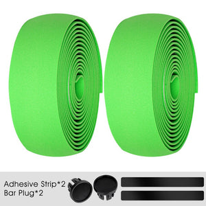 Cycling Handlebar Tape Anti-slip Thick Shockproof EVA Handle Bar Strap With Wrap End Plug MTB Road Bike Accessories-outdoor-betahavit-Green 200006153-China-betahavit