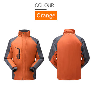 Cycling Jackets Windproof Men Women Riding Waterproof Cycle Clothing Long Sleeve Jerseys Winter Outdoor Sports Coat-outdoor-betahavit-Orange-XXL-betahavit