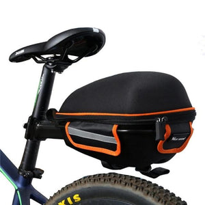 Cycling Saddle Bag Reflective Waterproof Mountain Bike Cycling Tail Extending Rain Cover Bicycle Bike Rear Bag-outdoor-betahavit-Black Orange-betahavit