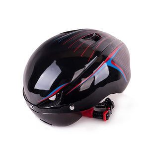 Integrally Ultra-Light Bicycle Helmet Aerodynamic EPS Lens Mountain Bikes Helmet MTB Bike Accessories Cycling Helmet-outdoor-betahavit-Black-betahavit