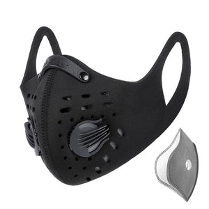 Men Cycling Face Mask Activated Carbon Dust-proof Sport Training Half Face Shield MTB Bike Bicycle Masks With Filter-outdoor-betahavit-betahavit