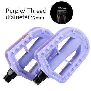 Multicolor Kids Bicycle Pedals Hard Plastic Lightweight Footrest Cycling Foot Pegs Anti-Slip Children Bicycle Pedals-outdoor-betahavit-Purple-betahavit