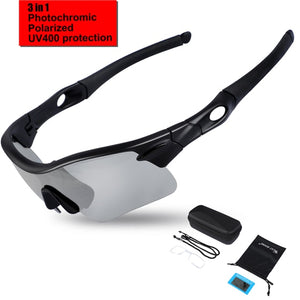 Polarized Cycling Bicycle Glasses MTB Mountain Bike Sunglasses Racing Eyewear UV400 Photochromic Sport Glasses-outdoor-betahavit-Black-betahavit