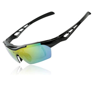 Polarized Cycling Glasses UV Proof Men Women 5 Lens Goggles Myopia Frame MTB Bikes Racing Sunglasses Bicycle Glasses-outdoor-betahavit-Black-betahavit