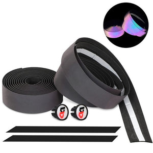 Road Bike Handlebar Tapes Reflective Discolor Shockproof Quality EVA Cycling Bicycle Handle Wraps With Bar Plugs-outdoor-betahavit-Discolor-China-betahavit