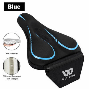 Road Bike Saddle Cover With Pocket Shockproof Comfortable Bicycle Accessories Anti-slip Cycling Bicycle Bike Cover-outdoor-betahavit-Blue-China-betahavit