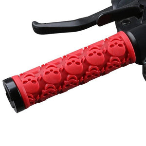 Rubber Cycling Grips Skull Model Anti-Skid Damping Bicycle Handle Bar End Caps Lightweight Lock-on Bicycle Grips-outdoor-betahavit-betahavit