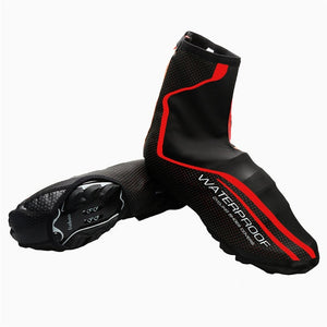 Waterproof Cycling Shoe Cover Reflective Full Zip MTB Road Bike Overshoes Outdoor Sports Riding Sneakers Shoes Cover-outdoor-betahavit-Red-XL-betahavit
