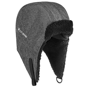 Winter Hat Super Warm Skiing Cap Thicken Windproof Cycling Men Trapper Ushanka Hat With Ear Flaps Bike Cycling Caps-outdoor-betahavit-Grey-China-betahavit