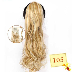 "22"" Long Wavy Wrap Around Clip In Ponytail Hair Extension Heat Resistant Synthetic Natural Wave Pony Tail Fake Hair-hair-betahavit-105 200661237-22inches-betahavit"