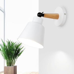 Wall Lamp Nordic Wood Wall LED Lamps Aluminum Wall Light for Bar Cafe Home Lighting Bedroom Bedside Light Home Decor fixtures-home-betahavit-betahavit