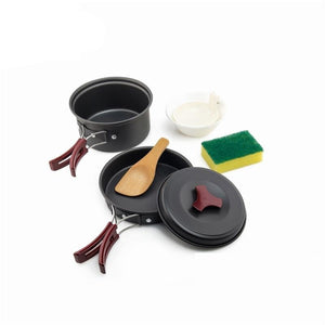 1 Person Camping Tableware Outdoor Cookware Picnic Set Travel Gears Non-Stick Pots Pans Bowls Hiking Utensils-outdoor-betahavit-China-betahavit