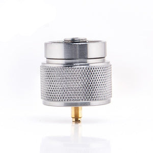 1 lb. propane small gas tank input EN417 Lindal Valve Output outdoor camping stove Convert cylinder LPG canister adapter-outdoor-betahavit-betahavit