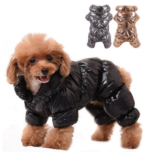 Winter Jumpsuit for Dogs Four Legs Warm Pet Dog Clothes for Small Dogs Thick Jacket Fleece Overalls for Chihuahua Bulldog XS-2XL-home-betahavit-betahavit
