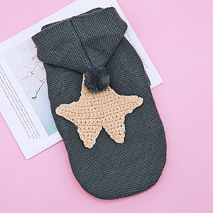 Winter Warm Cat Clothes Pet Dog Clothing Cat Kitten Sweater Coat Costume Puppy Coat Hoodies for Small Dogs Chihuahua Yorkshire-home-betahavit-Yellow Star-S-betahavit