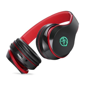 Wireless Headphones Bluetooth Headphone Headset With Microphone LED Light Support TF Card For PC mobile phone music-electronic-betahavit-Red-betahavit