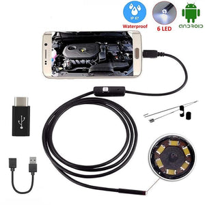 Endoscope Camera 7MM 2 in 1 Micro USB Mini Camcorders Waterproof 6 LED Borescope Inspection Camera For Android Loptop-home-betahavit-betahavit
