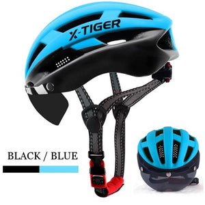 3 Colors Cycling Helmet With Windproof Lenses Ultralight Mountain Bike Helmet Road MTB Bicycle Helmet For Man-outdoor-betahavit-X-TK-0403-betahavit