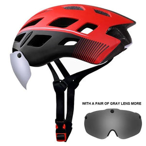 Cycling Helmet EPS Insect Net Road MTB Bike Helmet Windproof 2 Lenses Integrally-molded Cycling Bicycle Helmet-outdoor-betahavit-X-TK-0702-A-betahavit